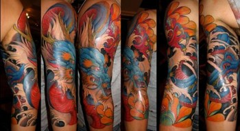 Tattoos - Chinese Dragon Sleeve - 42626
