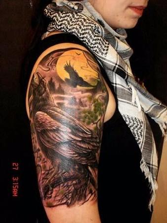Tattoos - Crow - 42638