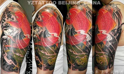 Tattoos - Red Koi - 24590