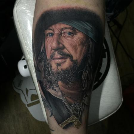 Tattoos - Captain Barbossa Portrait Tattoo - 115227
