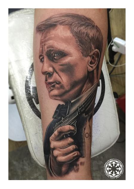 Tattoos - James Bond color portrait - 122469