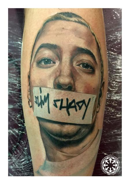 Tattoos - Color portrait of Eminem - 122226