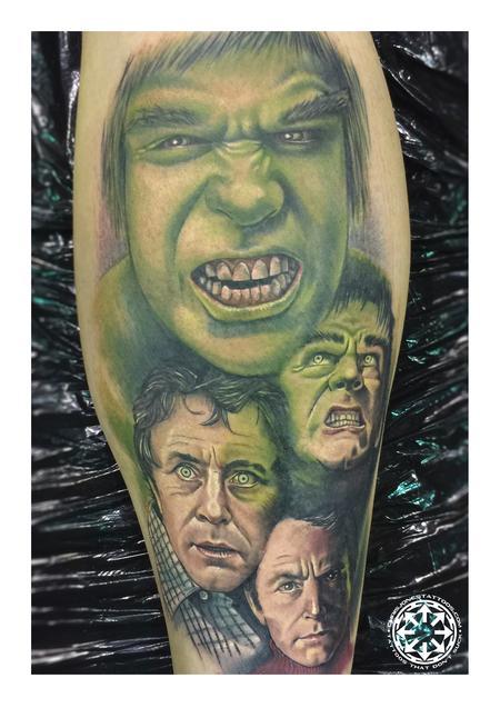 Tattoos - Classic Hulk color portrait - 122471