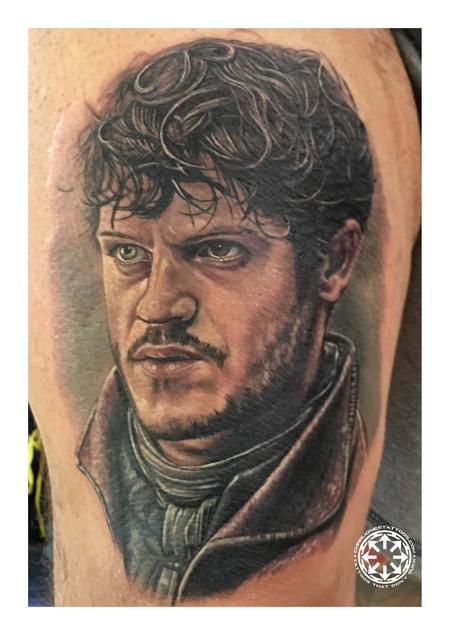 Tattoos - Ramsay Bolton color portrait - 122470