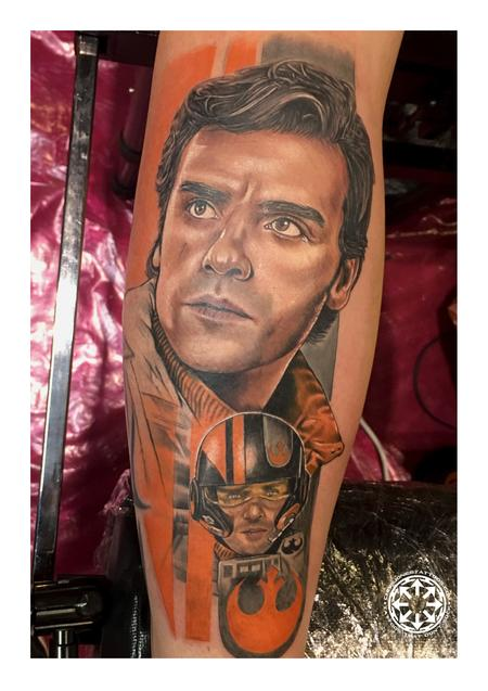 Tattoos - Color portrait of Poe Dameron - 122222