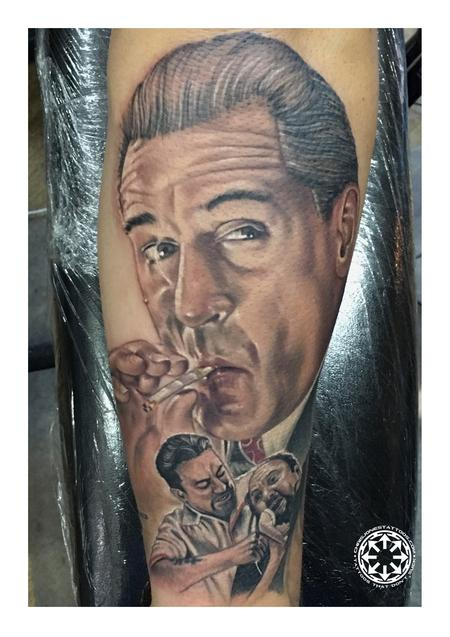 Tattoos - Robert De Niro Color Portrait - 122468
