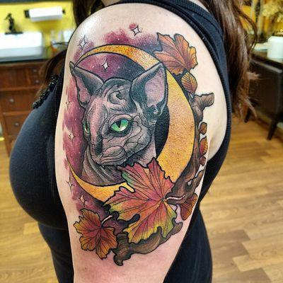 Chris bowen - Cat moon tattoo