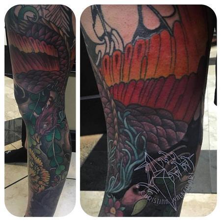 Tattoos - Full leg sleeve- in progress - 117372
