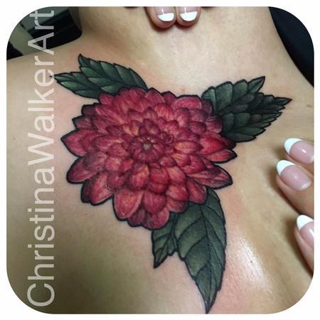 Christina Walker - Dahlia sternum piece
