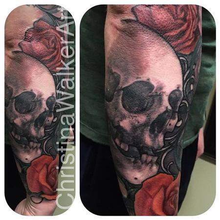 Christina Walker - Skull and Roses