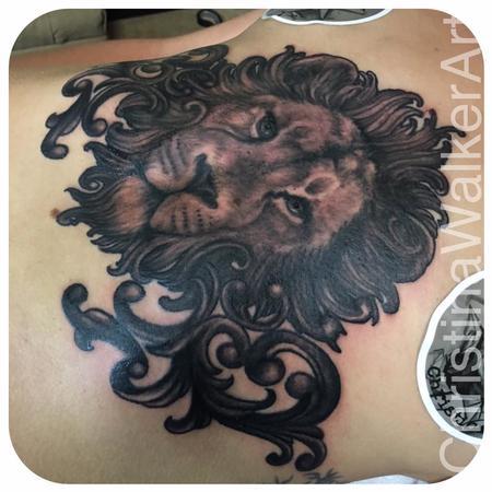 Christina Walker - Lion upper stomach piece