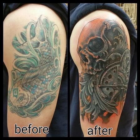 Tattoos - Koi cover up - 101540