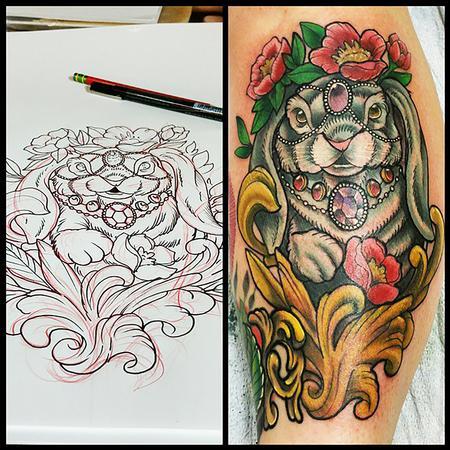 Tattoos - Rabbit  - 102229