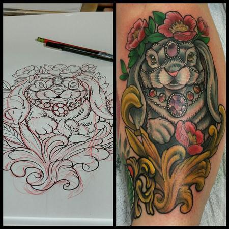 Tattoos - rabbit - 103881