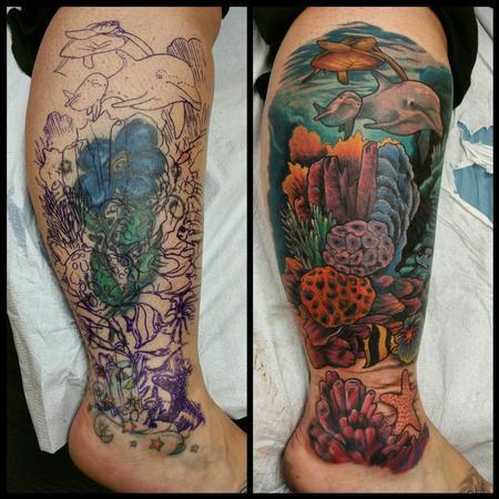 Tattoos - Ocean cover up - 104711