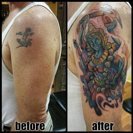 Tattoos - Kali tattoo cover up - 108245