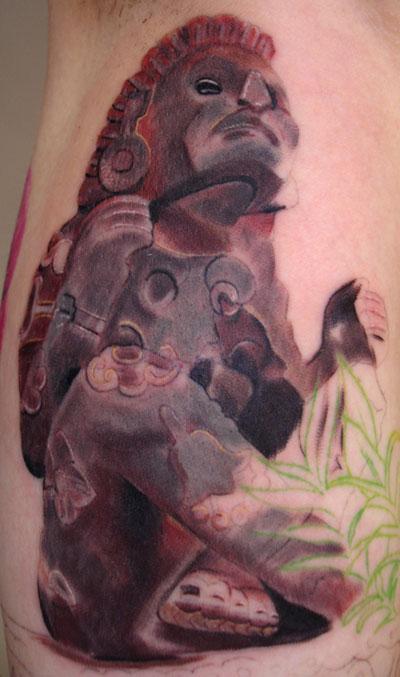 Tattoos - aztec god statue - 29826