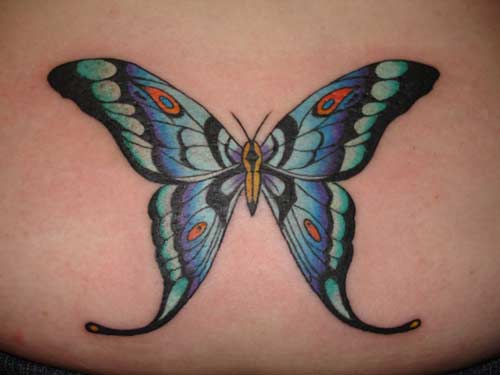 Christopher Allen - Colorful butterfly tattoo