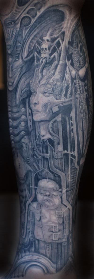 Tattoos - geiger sleeve - 89664