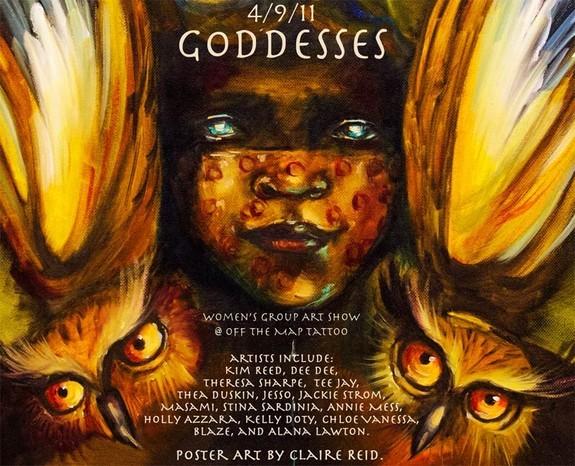 Claire Reid - Goddesses Art Show Poster