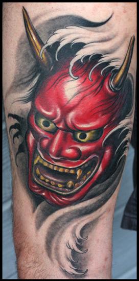 Tattoos - Red Hanya mask - 29708