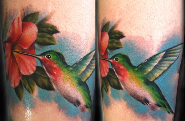 Tattoos - Hummingbird Tattoo - 26996