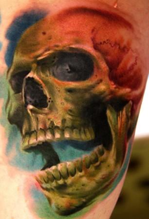 Tattoos - skull and snake - 46397