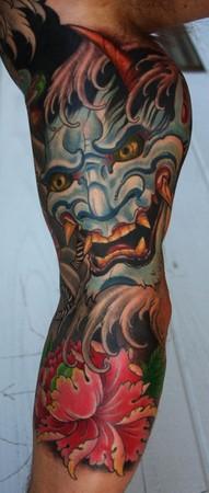 Tattoos - Japanese mask - 48903