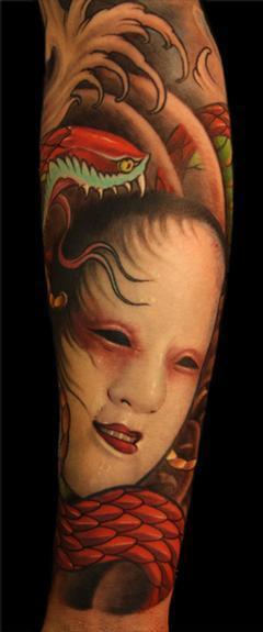 Tattoos - Japanese mask - 54187
