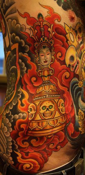 Tattoos - Tibetan prayer tool - 54186