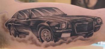 Tattoos - Camaro on underarm - 35530