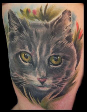 Tattoos - Cat - 35523