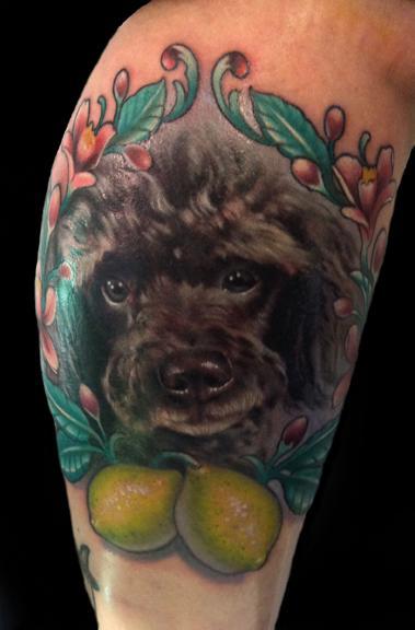 Tattoos - dog and lemons - 64505