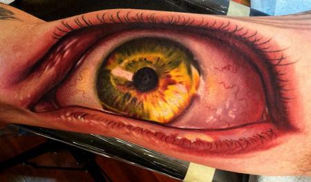 Tattoos - realistic eye - 64504