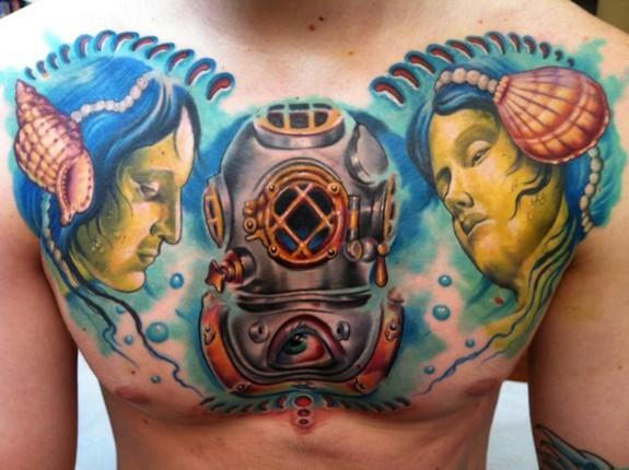Tattoos - nautical chest - 52514