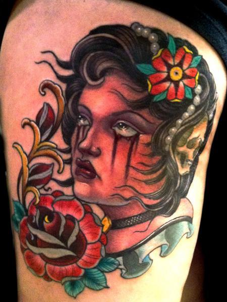 Tattoos - custom girl - 64508