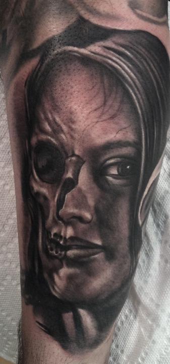 Tattoos - skull girl - 64495