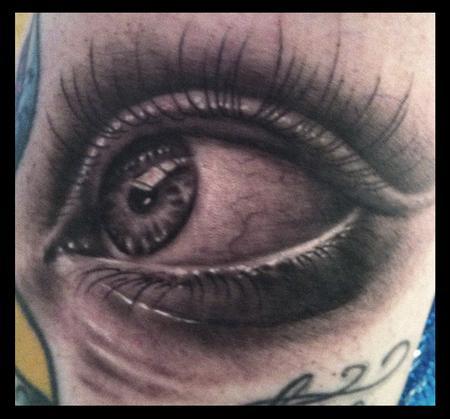 Tattoos - realistic eye - 78691