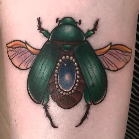 Tattoos - Sacrab beetle with jewel - 119087