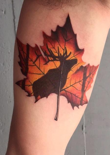 Tattoos - Maple leaf Elk  - 116453