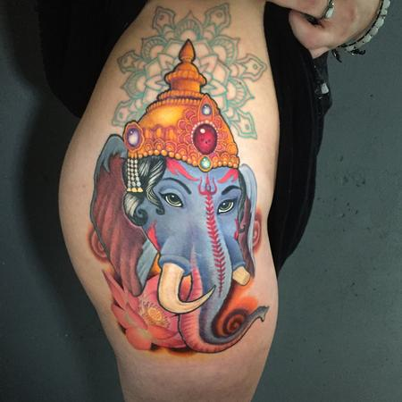 Tattoos - Ganesha mandala(coverup) - 133433