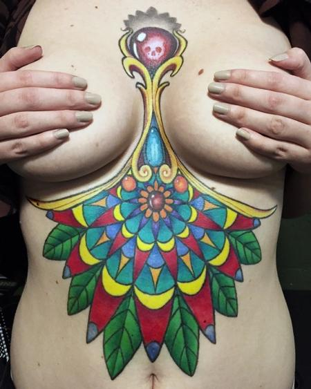 Tattoos - Full Color Mandala Tattoo - 116344