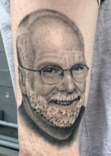 Tattoos - Black and Gray Portrait Tattoo - 116342