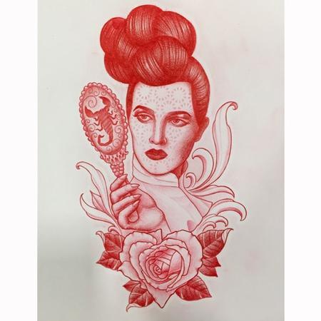 Eddie Zavala - Woman and Scorpion Mirror