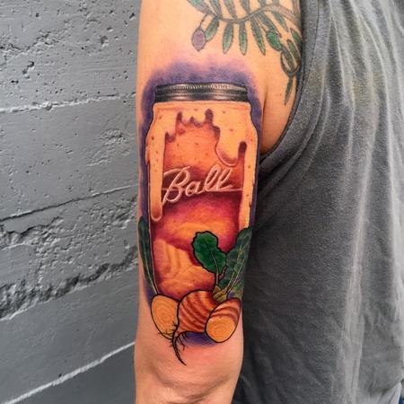 Tattoos - Mason jar of Kvass and Golden Beets - 116770