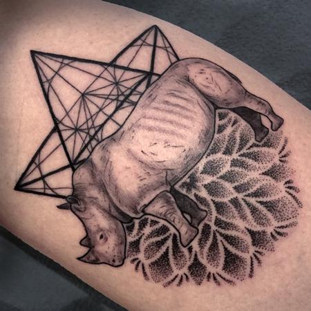Tattoos - Geometry/Rhino/Mandala Tattoo - 125035