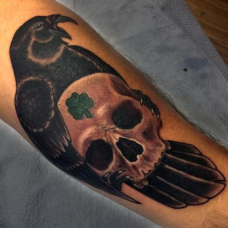 Tattoos - Raven and Skull - 125323