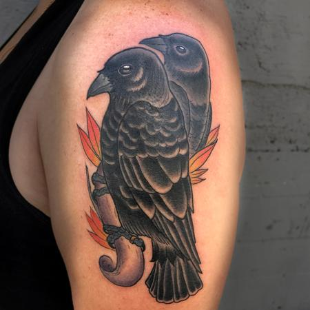 Tattoos - Crow couple - 129434