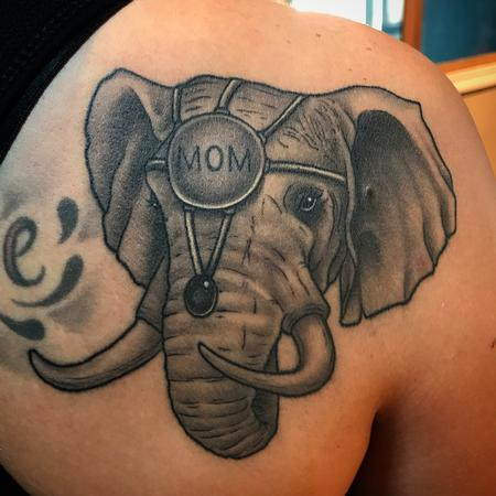 Tattoos - Elephant head with