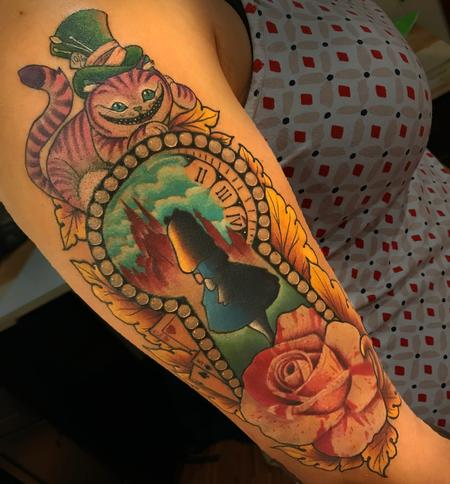 Tattoos - ALICE IN WONDERLAND HALFSLEEVE - 132339
